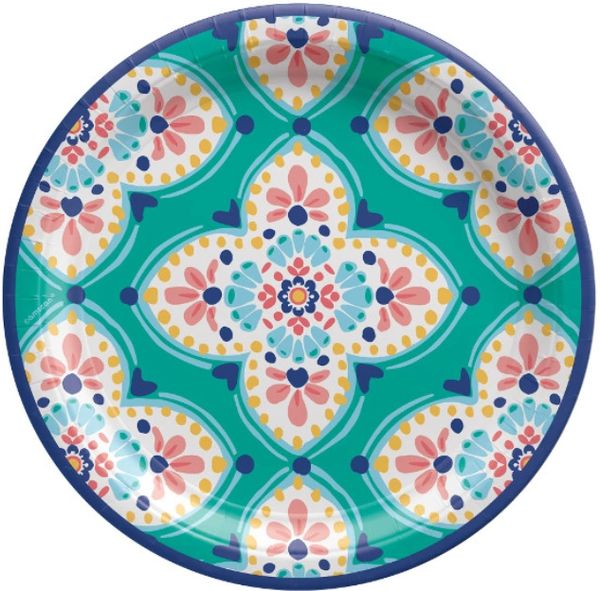 "Boho Vibes Round Dinner Plates, 10 1/2"" - 8ct"