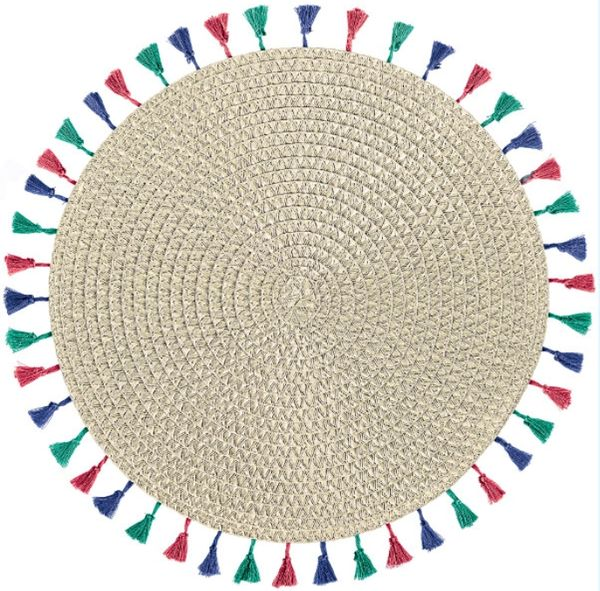 Boho Vibes Placemat w/ Tassels