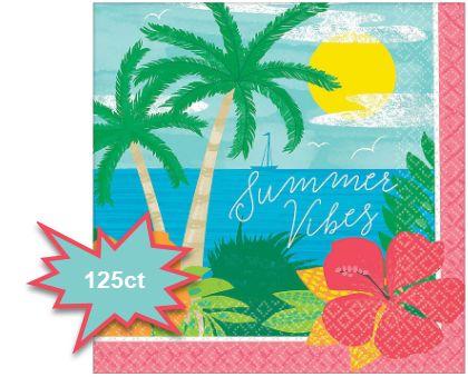 Summer Vibes Beverage Napkins, 125ct