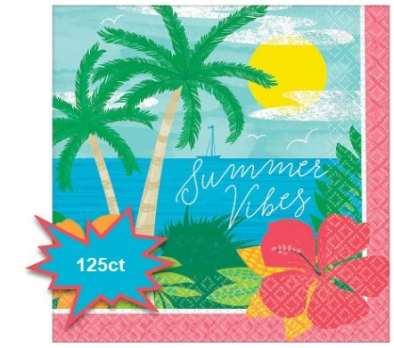 Summer Vibes Luncheon Napkins, 125ct