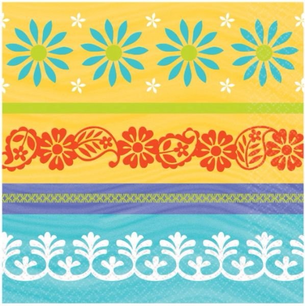 Summer Fiesta Beverage Napkins, 16ct