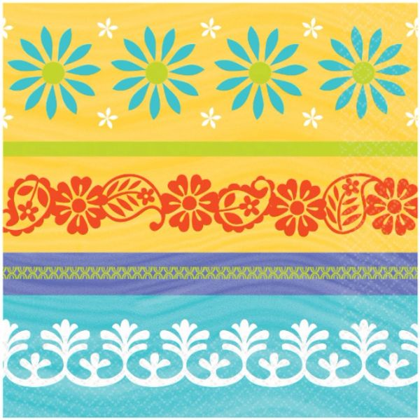 Summer Fiesta Luncheon Napkins, 16ct