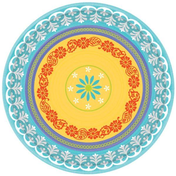"""Summer Fiesta Round Plates, 6 3/4"""" - 8ct"""