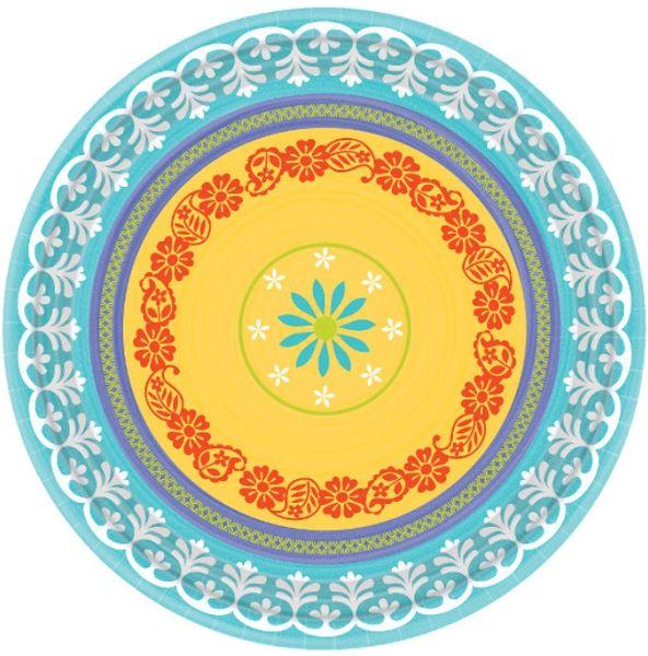"""Summer Fiesta Round Plates, 8 3/4"""" - 8ct"""