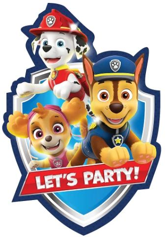 Paw Patrol™ Adventures Postcard Invitations, 8ct