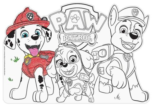 Paw Patrol™ Adventures Die Cut Color In Placemats, 8ct