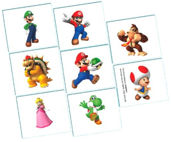 Super Mario Brothers™ Tattoo Favors, 8ct