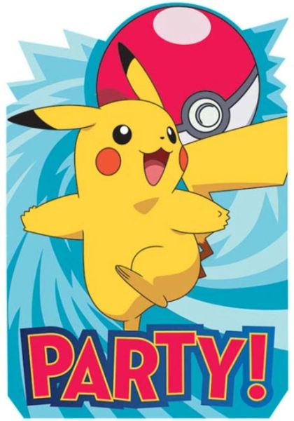 Pokemon™ Postcard Invites, 8ct