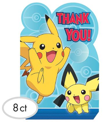 Pokemon™ Postcard Thank You, 8ct