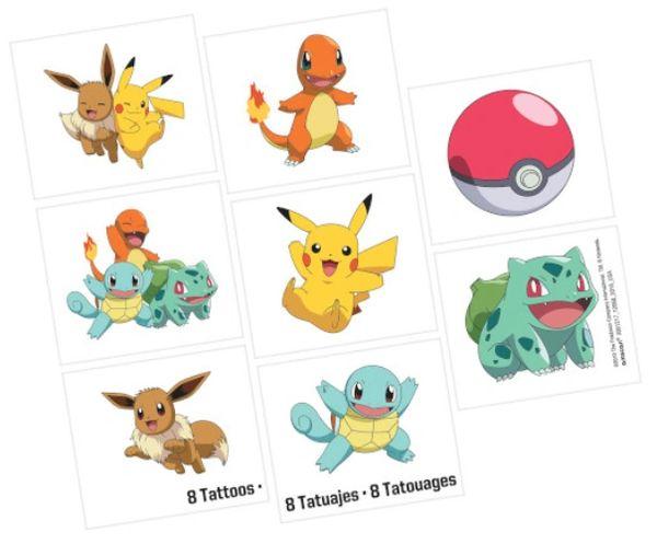 Pokemon™ Tattoos, 8ct