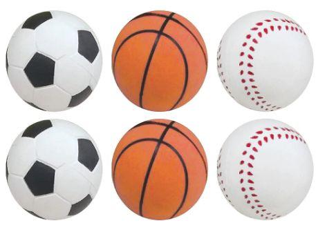 Multi Sports Sponge Balls, 6ct