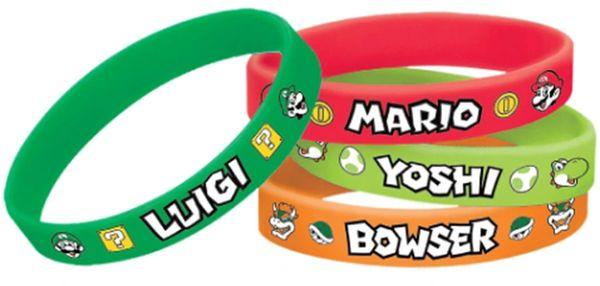 Super Mario Brothers™ Rubber Bracelet Favors, 4ct
