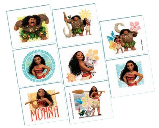 ©Disney Moana Tattoos, 8ct