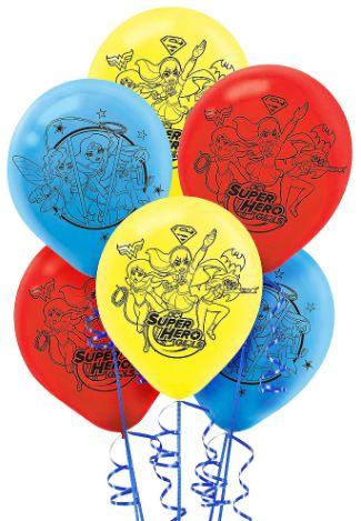 DC Super Hero Girls™ Latex Balloons, 6ct