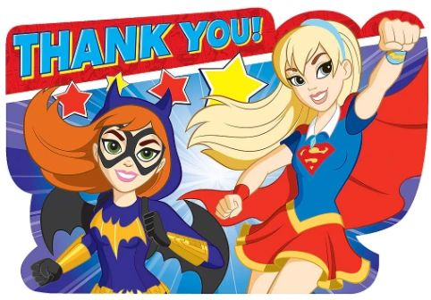 DC Super Hero Girls™ Postcard Thank You Card, 8ct