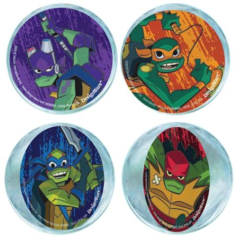 Rise of the TMNT™ Bounce Balls, 4ct