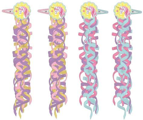 Magical Unicorn Hair Clips, 4ct