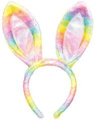 Bunny Ears - Rainbow Plaid