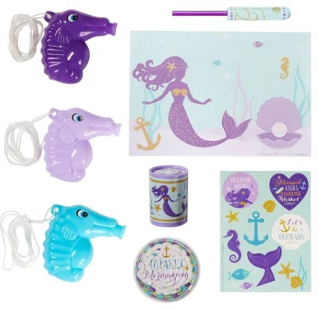 Mermaid Wishes Mega Mix Value Pack Favor, 48ct