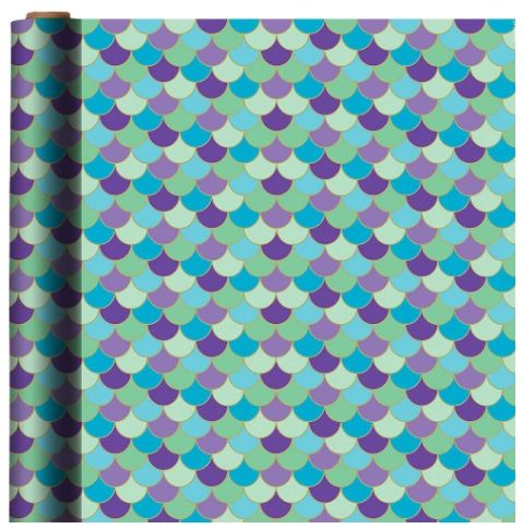 Mermaid Wishes Printed Gift Wrap, 5ft
