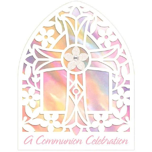 Communion Pink Large Novelty Invitations, 8ct