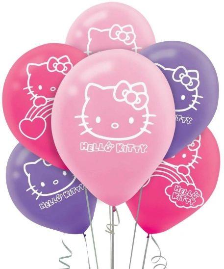 Hello Kitty Rainbow® Printed Latex Balloons, 6ct