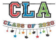 """2020"" Grad Multi Pack Banners - Multicolor, 12ft - 2pc"
