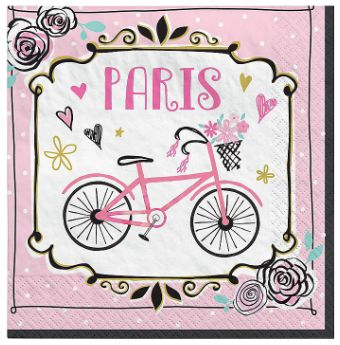 Day In Paris Beverage Napkins, 16ct