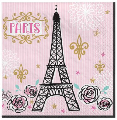 Day In Paris Lunch Napkins, 16ct