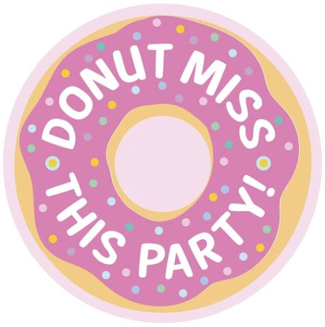 Donut Party Postcard Invitations, 8ct