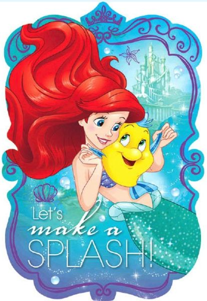 ©Disney Ariel Dream Big Postcard Invitations, 8ct