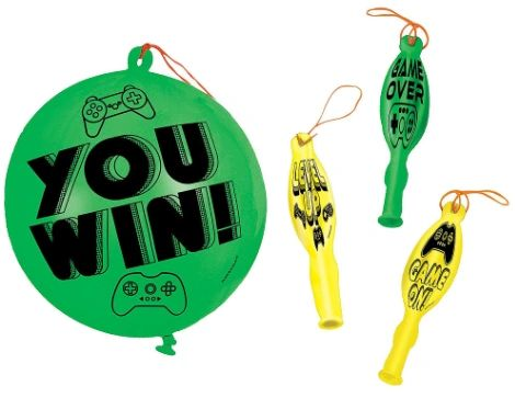 Level Up Packaged Punch Balloons, 4ct