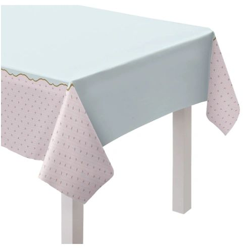 Tea Party Plastic Table Cover