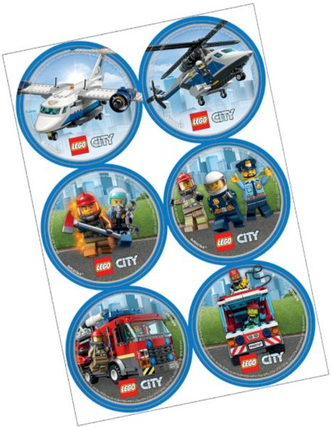Lego City Stickers, 24ct