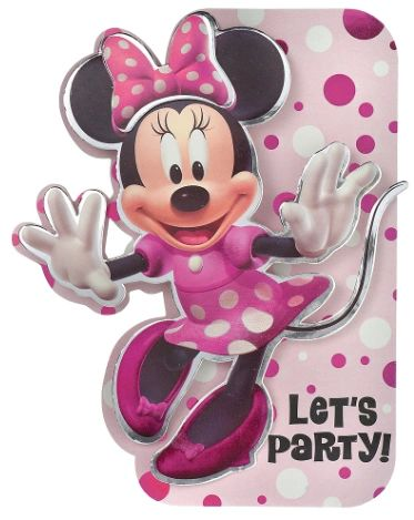 Minnie Mouse Forever Deluxe Foil Invite, 8ct
