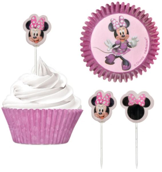 Minnie Mouse Forever Cupcake Cases and Picks Combo Pack, 24ct