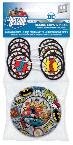 Justice League Heroes Unite™ Cupcake Cases & Picks Combo Pack, 24ct