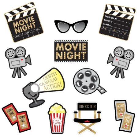 Movie Night Value Pack Cutouts, 12ct