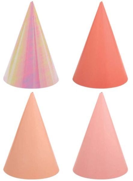 Birthday Accessories Pink Cone Hats, 12ct