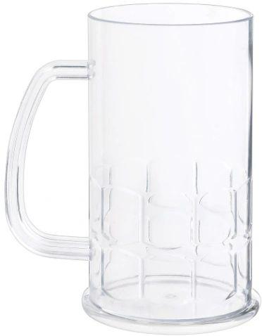 Plastic Tankard- Clear, 16oz