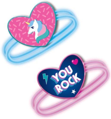 Heart Glow Bracelets, 6ct