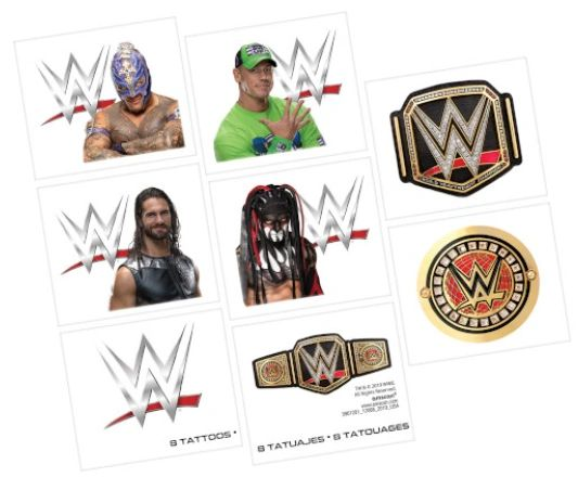 WWE® Smash Tattoos, 8ct