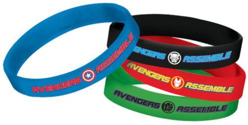Marvel Avengers Powers Unite™ Rubber Bracelets, 4ct