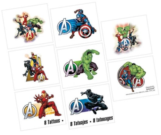 Marvel Avengers Powers Unite™ Tattoos, 8ct