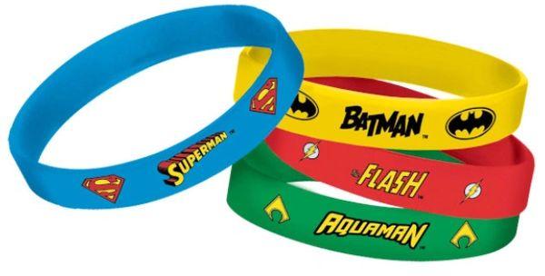 Justice League Heroes Unite™ Rubber Bracelets, 4ct