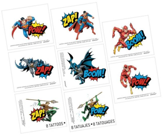 Justice League Heroes Unite™ Tattoos, 8ct