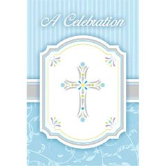 Blessings Blue Postcard Value Pack Invitations, 20ct