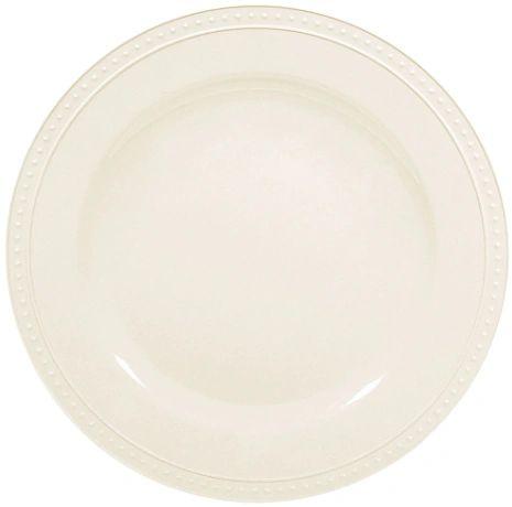 """11"""" Beaded Melamine Dinner Plate"""