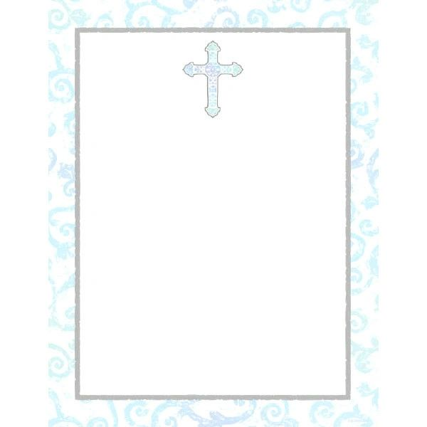 Sparkling Cross Laser Sheet, 25ct