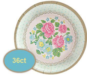 "Tea Party Round Appetizer Plates, 5 1/2"" - 36ct"